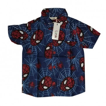 lumik-Blue Spidy Baby Shirt-