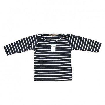 lumik-Navy Stripes Long Sleeves-