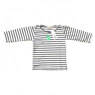 lumik-White Navy Stripes Long Sleeves-