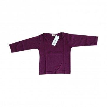 lumik-Lumik Dark Purple Plain Longsleeve-