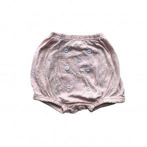 lumik-Lumik Peach Plain Button Short-