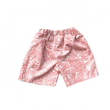 lumik-Pinky Abstract Short-