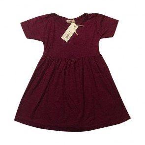 lumik-Maroon Simply Dress-