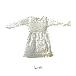 lumik-Blue Dot Formal Dress-