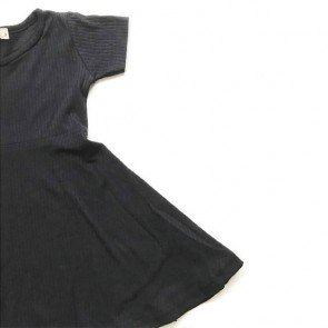 lumik-Black Simply Dress-