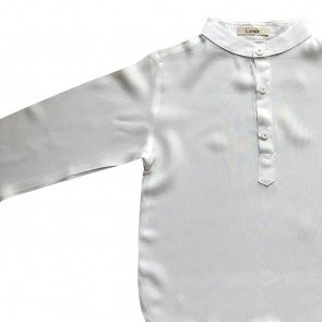 lumik-Lumik White Plain Koko Long Sleeve-