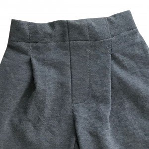 lumik-Lumik Grey Plain Kulot Pants-