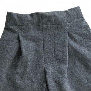 lumik-Lumik Grey Plain Kulot Pants-